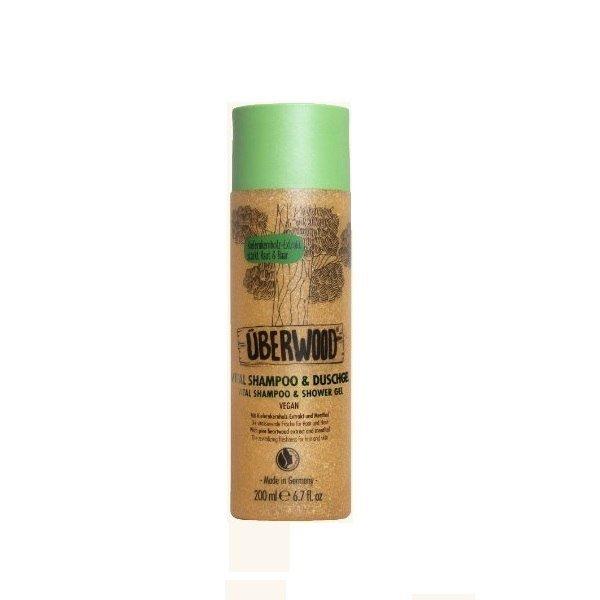 UBERWOOD Rewitalizujący szampon i żel pod prysznic 2 w 1, 200ml