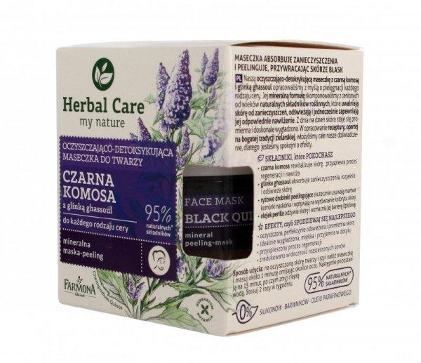 Farmona Herbal Care Maseczka do twarzy oczyszczająco detoksykująca Czarna Komosa  50ml