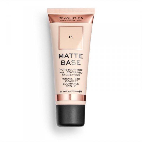 Makeup Revolution Podkład matujący do twarzy Matte Base Foundation F1 28 ml