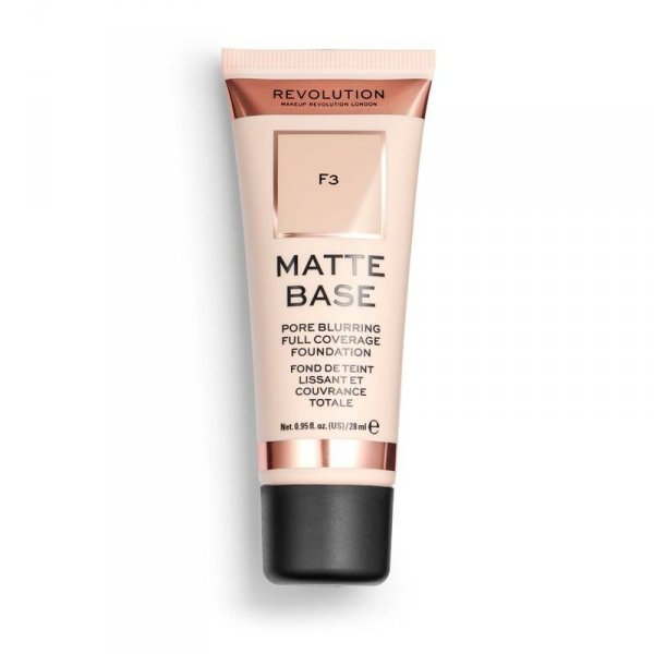Makeup Revolution Podkład matujący do twarzy Matte Base Foundation F3  28 ml
