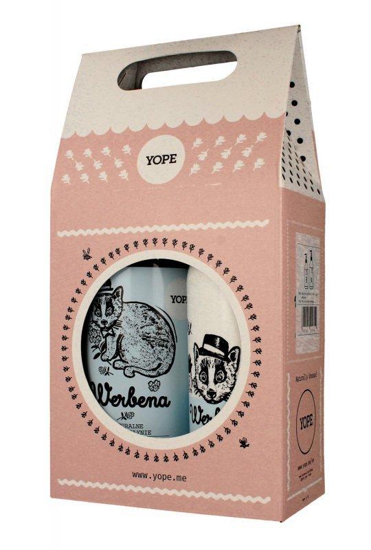 YOPE Zestaw prezentowy Werbena (mydło w płynie 500ml+balsam do rąk i ciała 300ml)  1op.