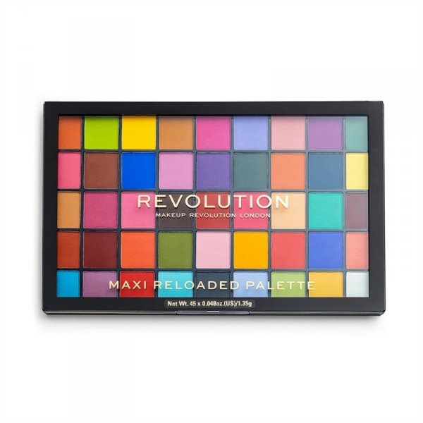 Makeup Revolution Maxi Reloaded Palette (45) Paleta cieni do powiek Monster Mattes, 1 szt.