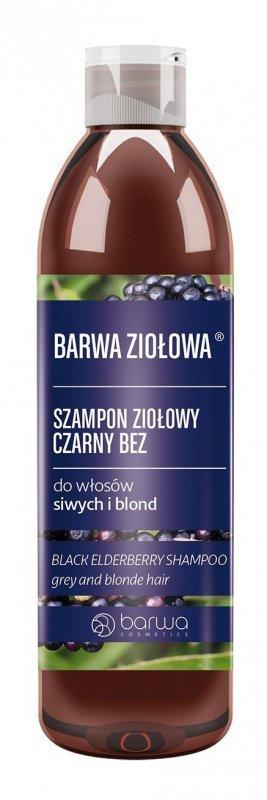 BARWA Ziołowa Szampon do włosów Czarny Bez - włosy blond i siwe  250ml
