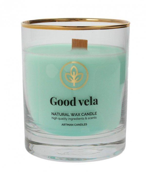 ARTMAN Organic Świeca zapachowa z drewnianym knotem Good Vela 1szt