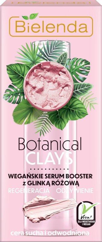 Bielenda Botanical Clays Różowa Glinka Wegańskie Serum Booster do twarzy 30ml