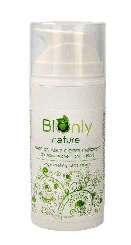 BIOnly Nature Krem do rąk regenerujący z olejem makowym 100ml