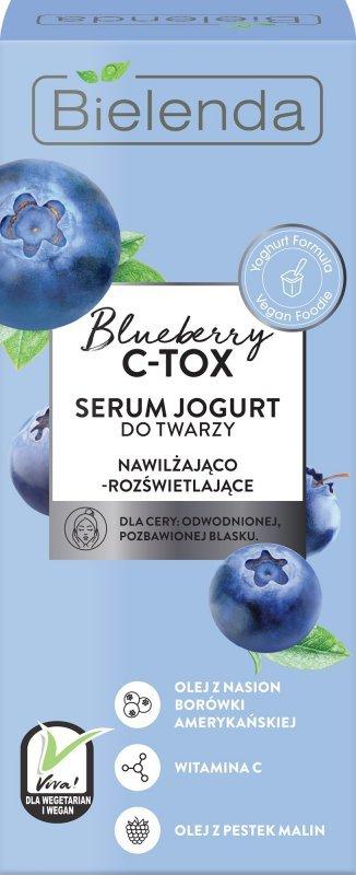 Bielenda Blueberry C-TOX Serum Jogurt do twarzy nawilżająco-rozświetlające 30ml