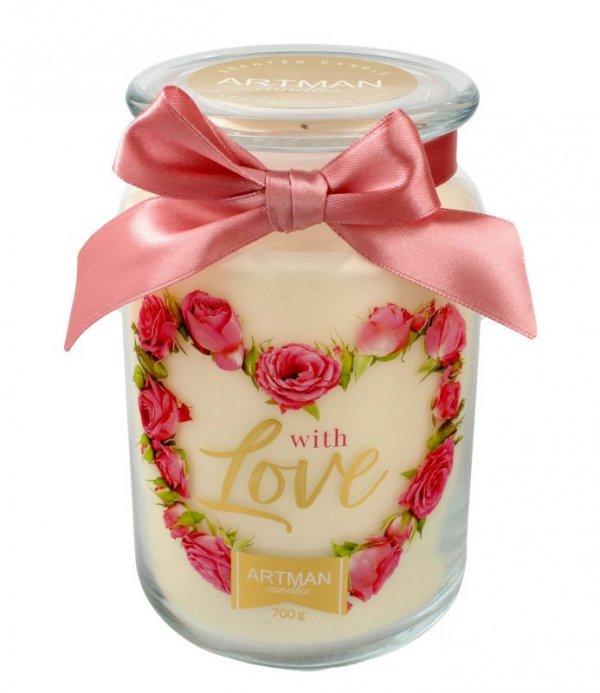 ARTMAN Świeca zapachowa With Love słoik duży 1szt-700g