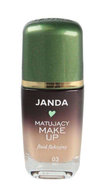 JANDA Make-up matujący - fluid fleksyjny nr 03 beż  30ml