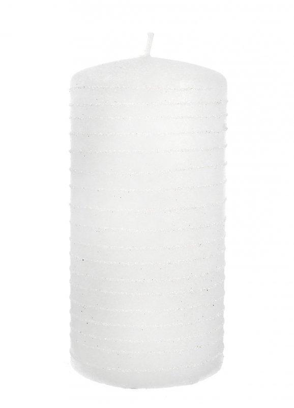 ARTMAN Świeca ozdobna Andalo biała - walec mały 1szt