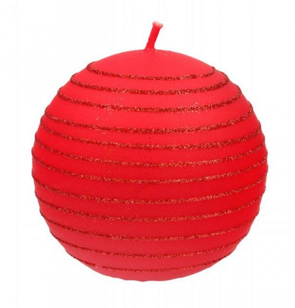 ARTMAN Świeca ozdobna Andalo czerwona - kula mała 1szt