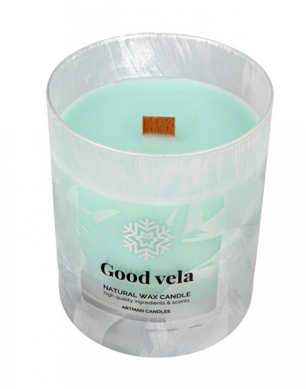ARTMAN Boże Narodzenie Świeca zapachowa Organic Winter Good Vela z drewnianym knotem 1szt