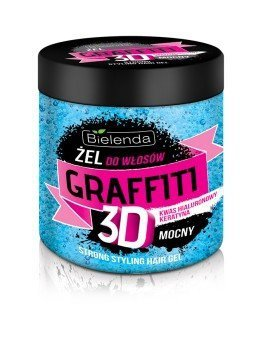 Bielenda Graffiti 3D Żel do układania włosów mocny z odżywką 250ml