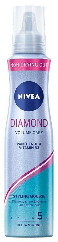 Nivea Hair Care Styling Pianka do włosów Diamond Volume Care ultra mocna  150ml