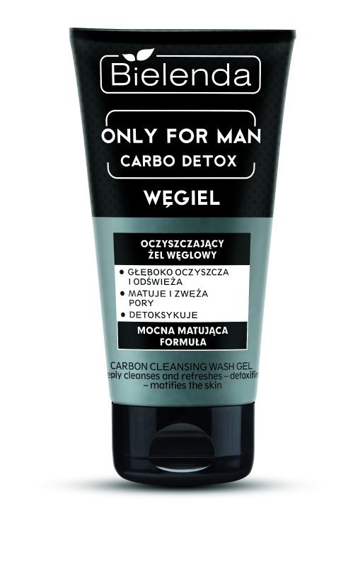 Bielenda Only for Man Carbo Detox Żel oczyszczający do mycia twarzy z węglem  150ml