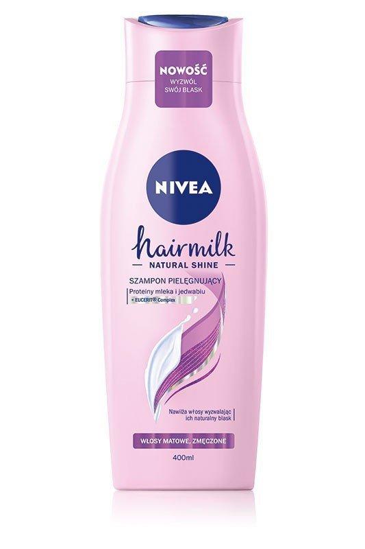 NIVEA Hair Milk Szampon mleczny do włosów matowych i zmęczonych 400ml