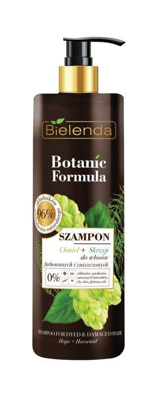 Bielenda Botanic Formula Skrzyp+Chmiel Szampon do włosów farbowanych i zniszczonych 400ml