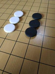 Zestaw ceramicznych kamieni do gry w go (jednostronnie wypukłych)
