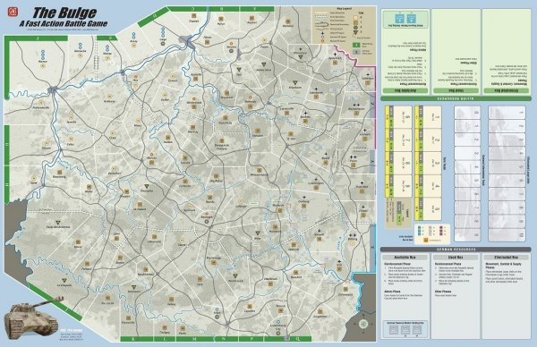 FAB: Bulge'44 - Mounted Mapboard