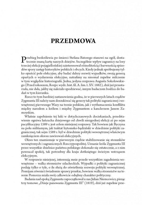 Walka stronnictw w pierwszych latach panowania Zygmunta III