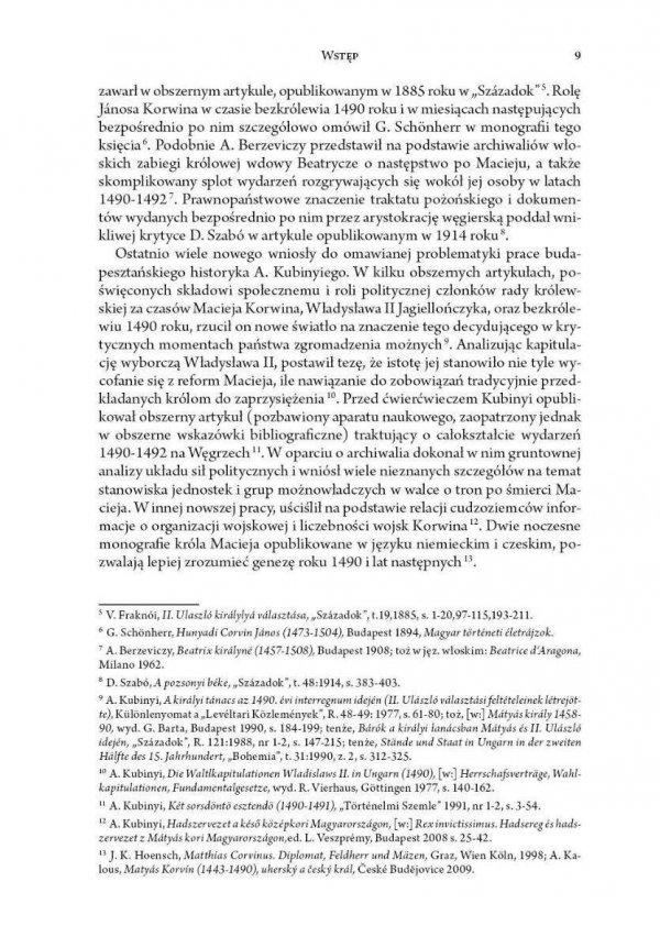 Habsburgowie i Jagiellonowiew walce o Węgry w latach 1490-1492