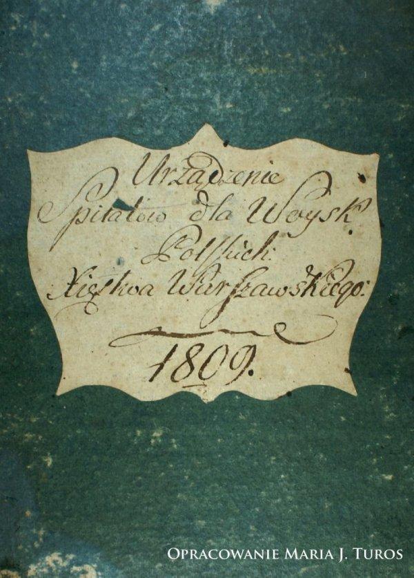 Urządzenie Szpitalów dla Woysk Xsięstwa Warszawskiego