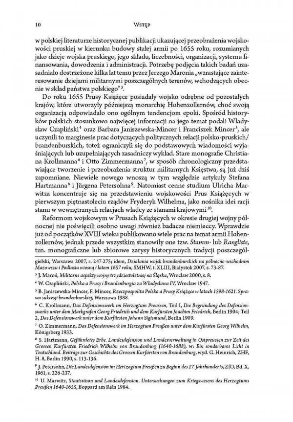 Przebudowa wojska pruskiego w latach 1655-1660