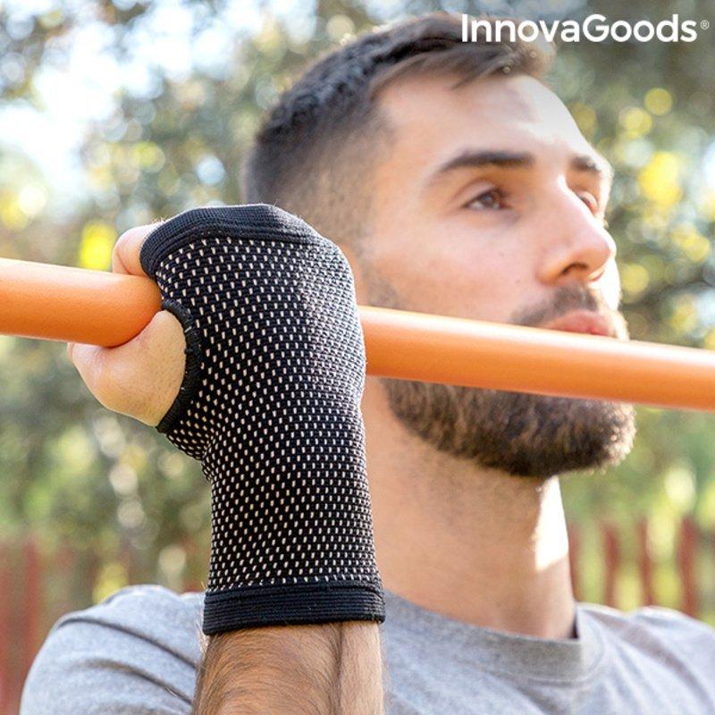 Opaska zaciskowa na nadgarstek z nićmi miedzianymi i bambusowymi Wristcare InnovaGoods