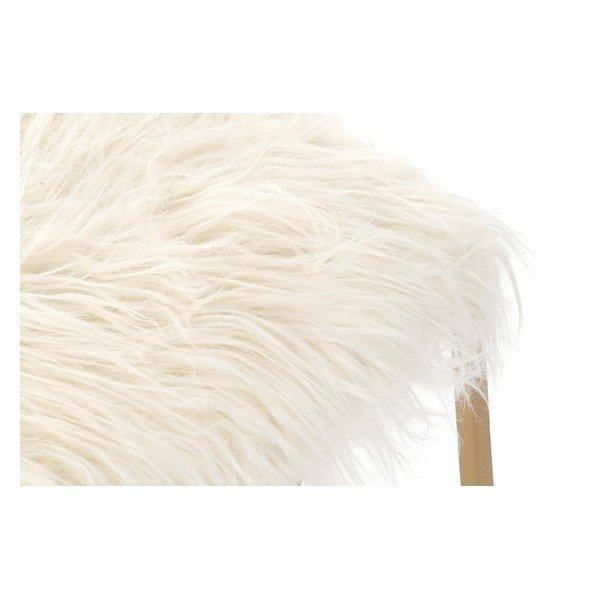 Taboret DKD Home Decor Z włosami Poliester Metal (60 x 40 x 45 cm)