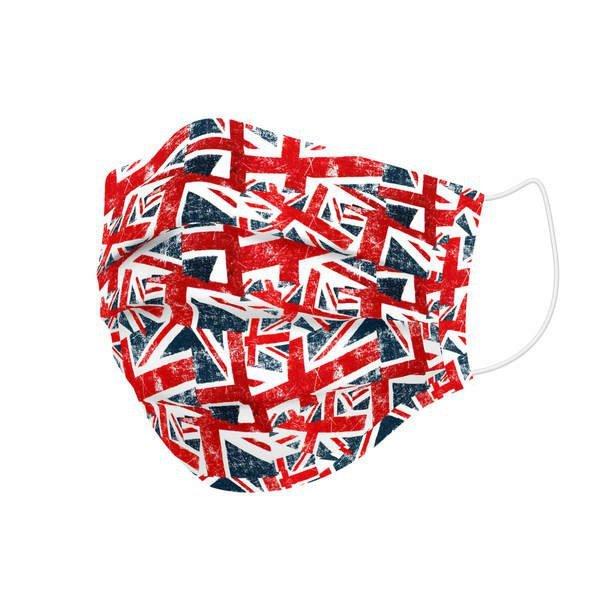 Maska higieniczna materiałowa wielokrotnego użytku UK Flags Dziecięcy