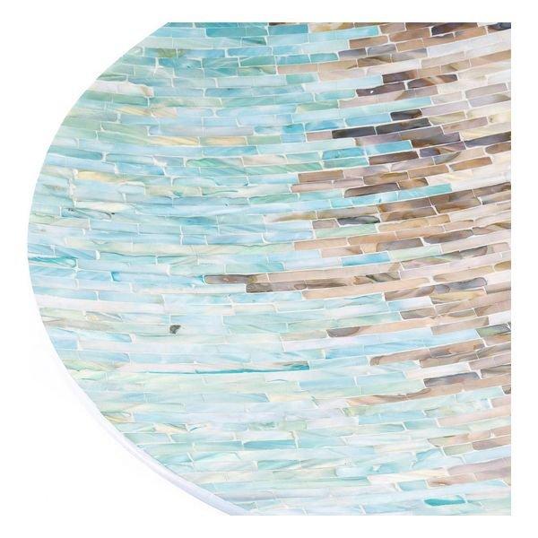 Dekoracja na Stół DKD Home Decor Masa perłowa Nowoczesny (46 x 46 x 6 cm)