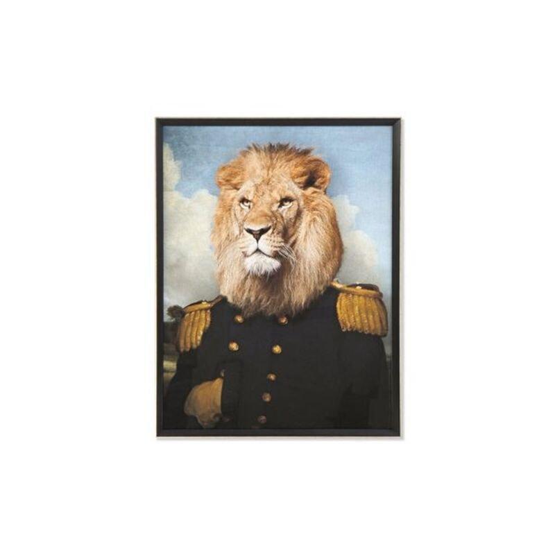 Obraz DKD Home Decor Lew W ramce (74 x 3 x 97 cm)