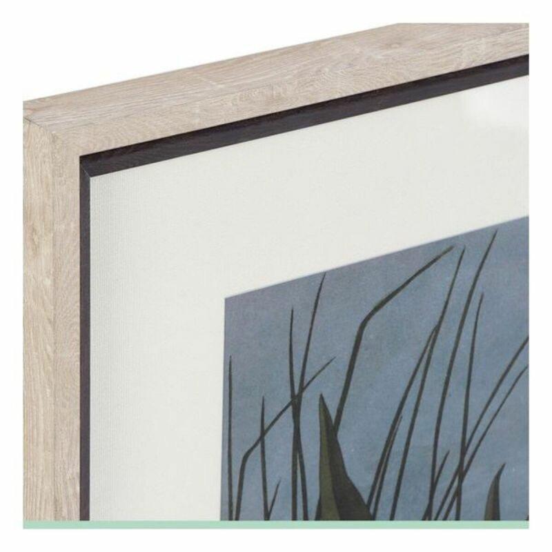 Obraz DKD Home Decor Vták Orientalny W ramce (70 x 3 x 88 cm)