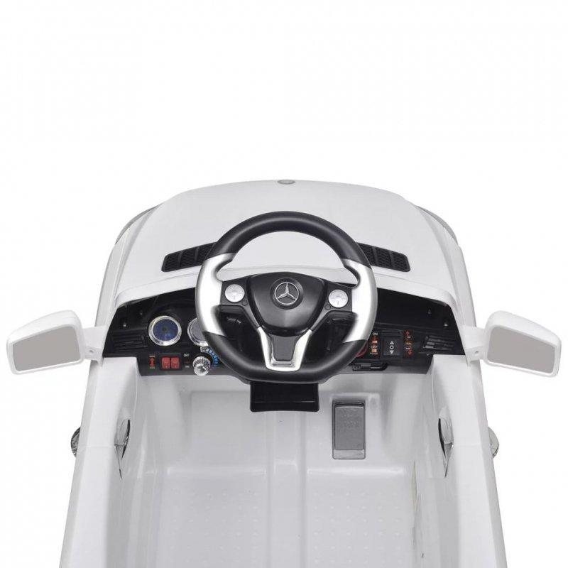 Samochód elektryczny Biały Mercedes Benz ML350 6 V z pilotem