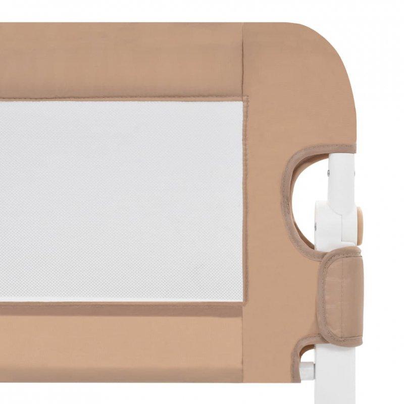 Barierka do łóżeczka dziecięcego, taupe, 120x42 cm, poliester