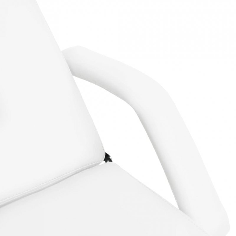Stół do masażu, biały, 180x62x(86,5-118) cm