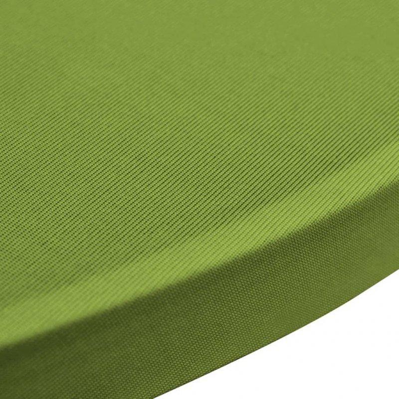 Elastyczne nakrycie stołu zielone 2 szt. 80 cm