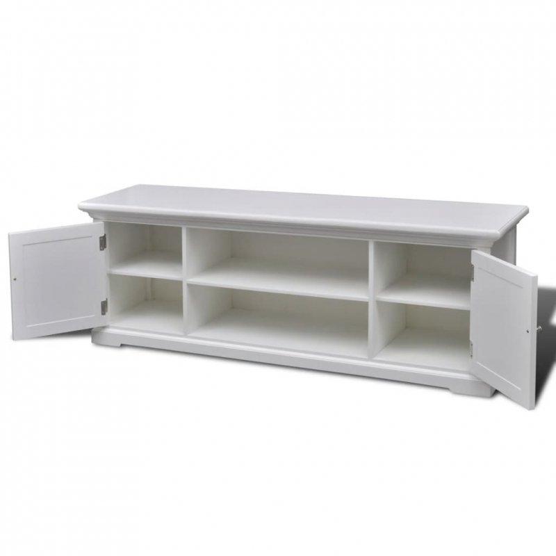 Szafka pod TV, drewniana, biała