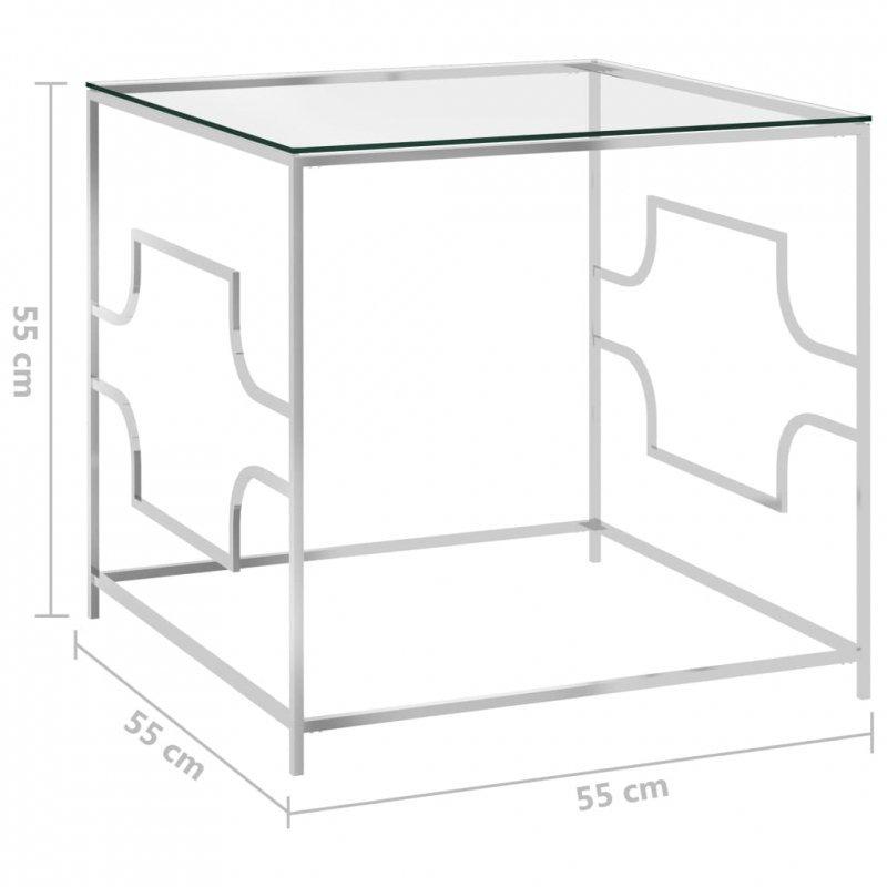 Stolik kawowy, 55x55x55 cm, stal nierdzewna