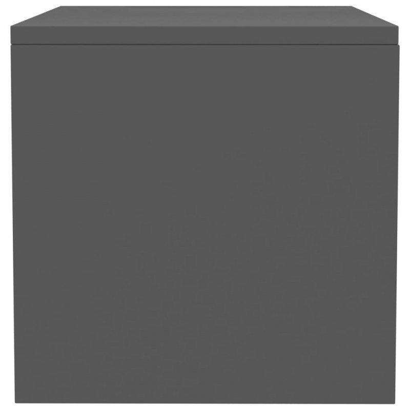 Szafka nocna, szara, 40 x 30 x 30 cm, płyta wiórowa