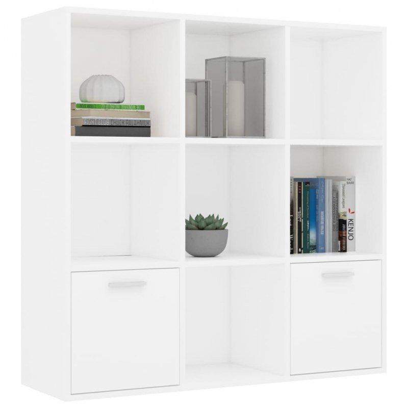Regał na książki, biały, 98 x 30 x 98 cm, płyta wiórowa