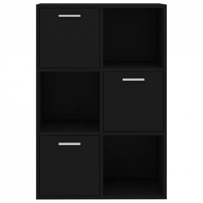 Szafka, czarna, 60x29,5x90 cm, płyta wiórowa