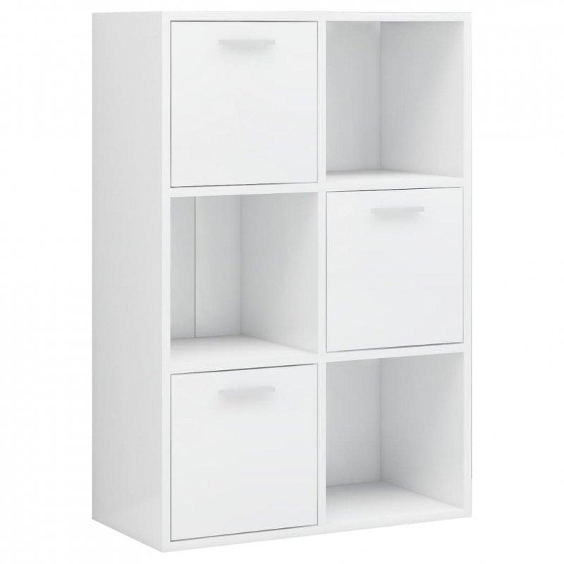 Szafka, biała na wysoki połysk, 60x29,5x90 cm, płyta wiórowa