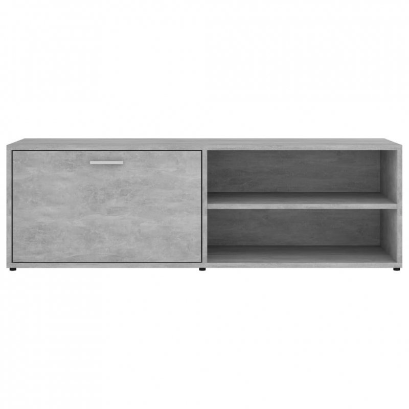 Szafka pod TV, szarość betonu, 120x34x37 cm, płyta wiórowa