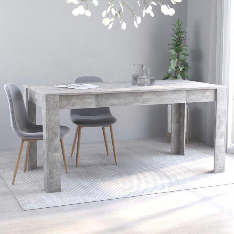 Stół jadalniany, betonowy szary, 160x80x76 cm, płyta wiórowa