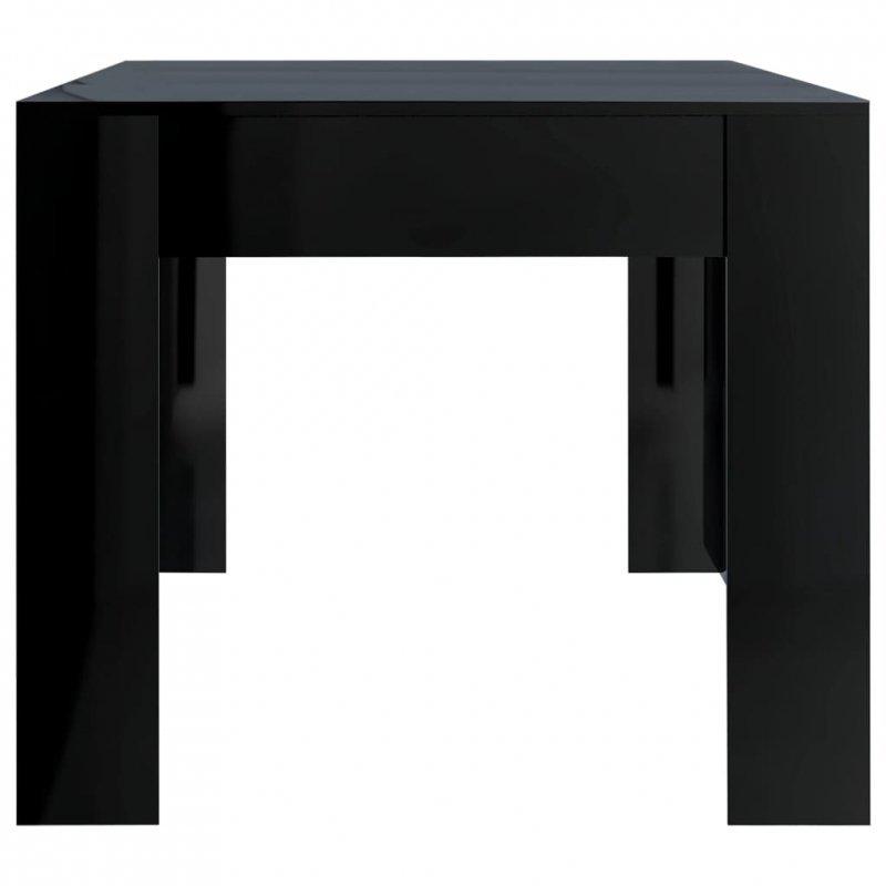 Stół na wysoki połysk, czarny, 180x90x76 cm, płyta wiórowa