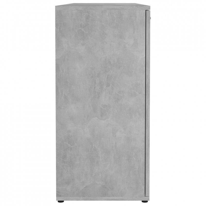 Komoda, betonowa szarość, 120x35,5x75 cm, płyta wiórowa
