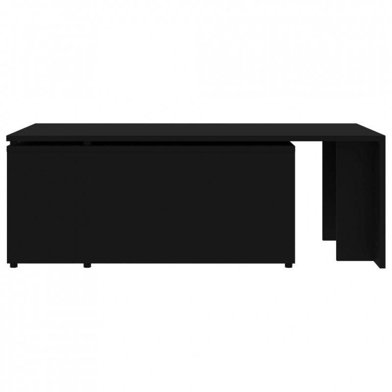 Stolik kawowy, czarny, 150x50x35 cm, płyta wiórowa