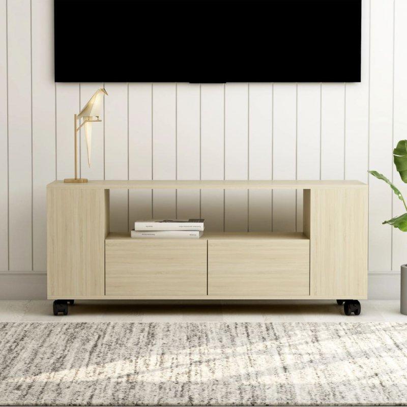 Szafka TV, dąb sonoma, 120x35x43 cm, płyta wiórowa