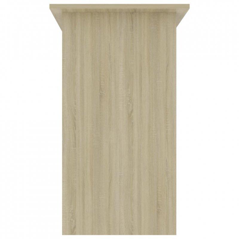 Biurko, dąb sonoma, 80x45x74 cm, płyta wiórowa